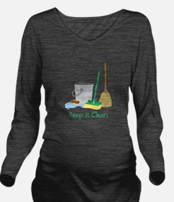 Keep it Clean Long Sleeve Maternity T-Shirt