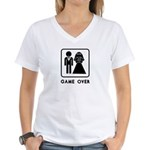 Game Over Women's V-Neck T-Shirt