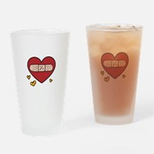 Valentine Band Aid Drinking Glass