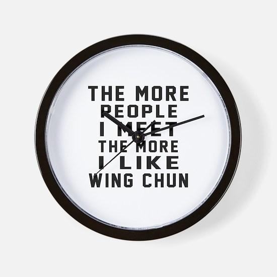 I Like Wing Chun Wall Clock