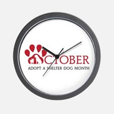 Shelter Dog Month Wall Clock