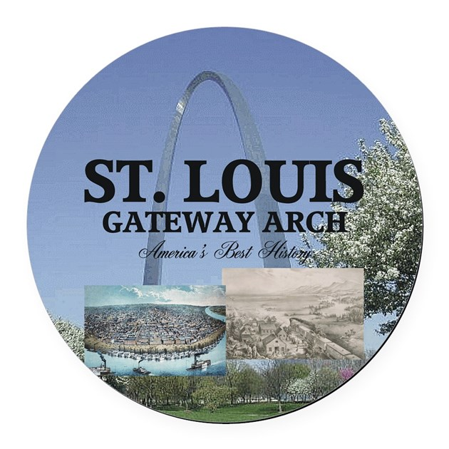 Home Decorators Outlet St Louis: Abh Gateway Arch Round Car Magnet By Limitlesspos
