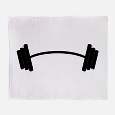 Barbell Weight Throw Blanket