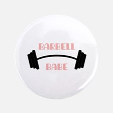 Barbell Babe Button