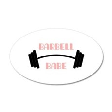 Barbell Babe Wall Decal