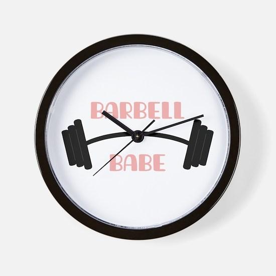 Barbell Babe Wall Clock