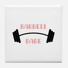 Barbell Babe Tile Coaster