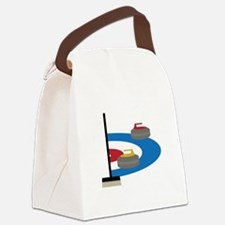 Curling Sport Canvas Lunch Bag