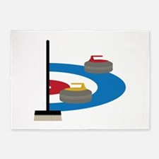 Curling Sport 5'x7'Area Rug
