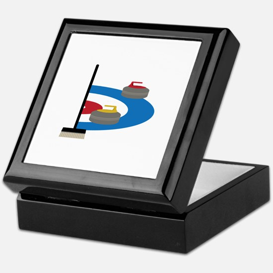 Curling Sport Keepsake Box
