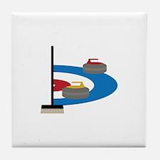 Curling Sport Tile Coaster