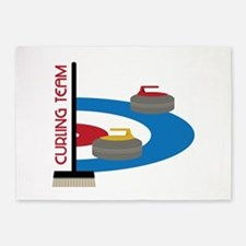 Curling Team 5'x7'Area Rug