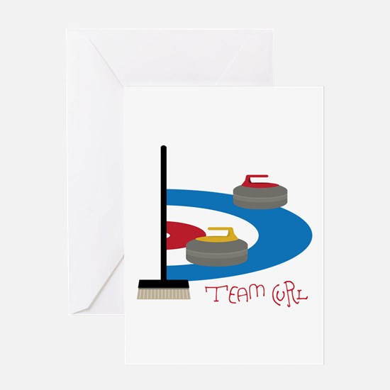Team Curl Greeting Cards