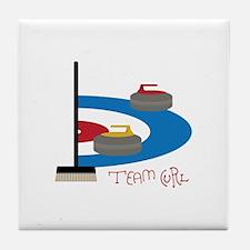 Team Curl Tile Coaster