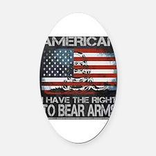 Cool 2nd amendment Oval Car Magnet