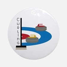 Curling Sport Round Ornament