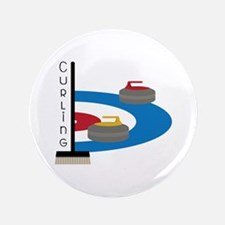 Curling Sport Button