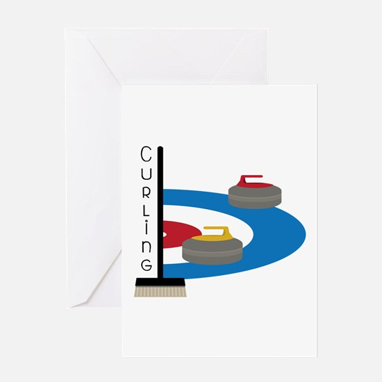 Curling Sport Greeting Cards