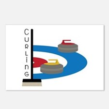 Curling Sport Postcards (Package of 8)