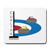 Curling broom Mouse Pads