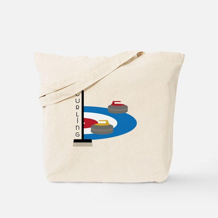 Curling Sport Tote Bag
