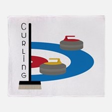 Curling Sport Throw Blanket