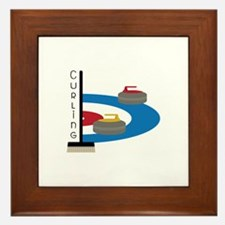 Curling Sport Framed Tile