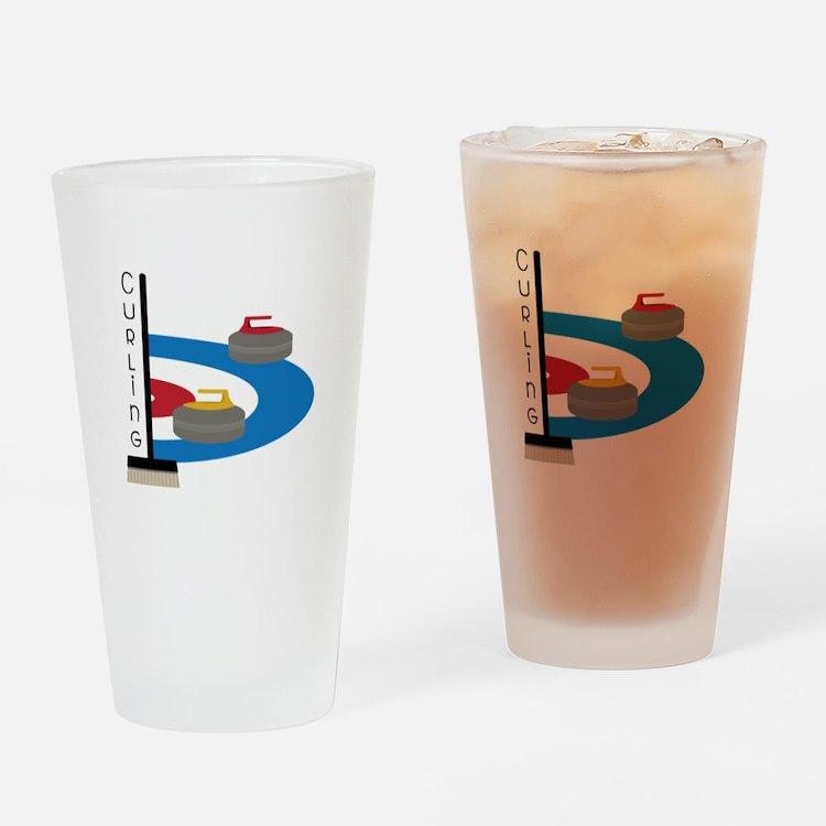Curling Sport Drinking Glass