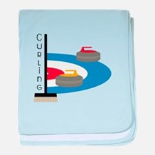 Curling Sport baby blanket