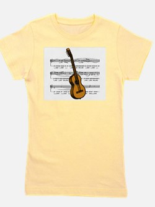 Cute Guitar player Girl's Tee