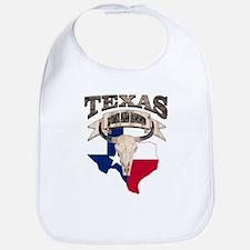 Bull Skull Texas Pride Bib