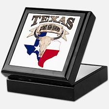 Bull Skull Texas home Keepsake Box