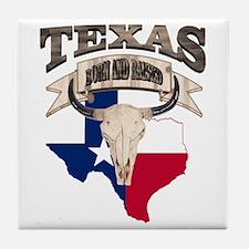 Bull Skull Texas home Tile Coaster