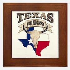Bull Skull Texas home Framed Tile