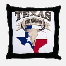 Bull Skull Texas home Throw Pillow