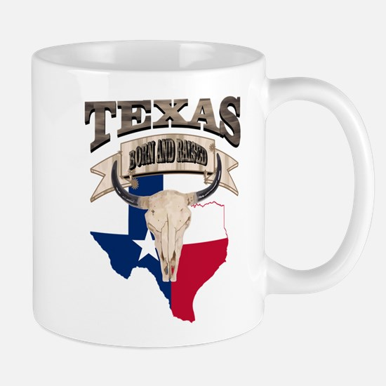 Bull Skull Texas home Mugs