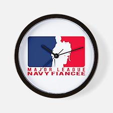 Major League Fiancee - NAVY Wall Clock