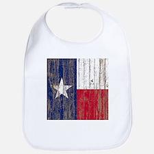 barn wood Texas Flag Bib