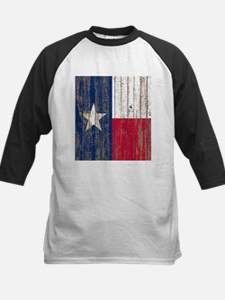 barn wood Texas Flag Baseball Jersey