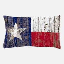 barn wood Texas Flag Pillow Case