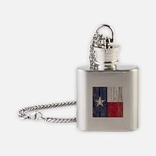 barn wood Texas Flag Flask Necklace