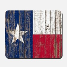 barn wood Texas Flag Mousepad