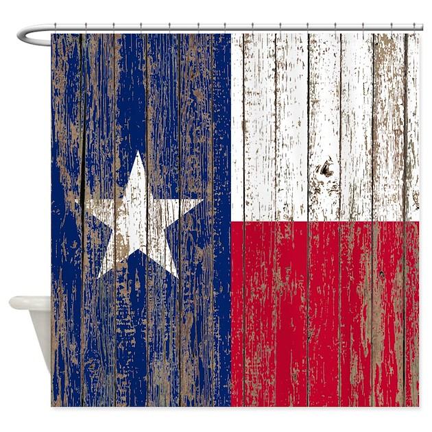 Barn Wood Texas Flag Shower Curtain By Admin Cp62325139