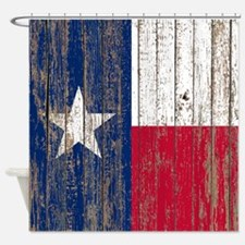 barn wood Texas Flag Shower Curtain