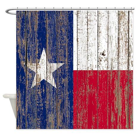 barn wood Texas Flag Shower Curtain