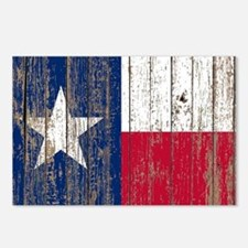 barn wood Texas Flag Postcards (Package of 8)