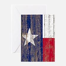barn wood Texas Flag Greeting Cards