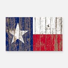 barn wood Texas Flag Rectangle Car Magnet