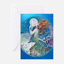 Erotic, Sensual Clive Pearl Mermaid Greeting Cards