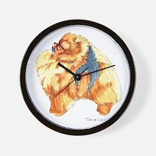 Pomeranian Profile sable Wall Clock